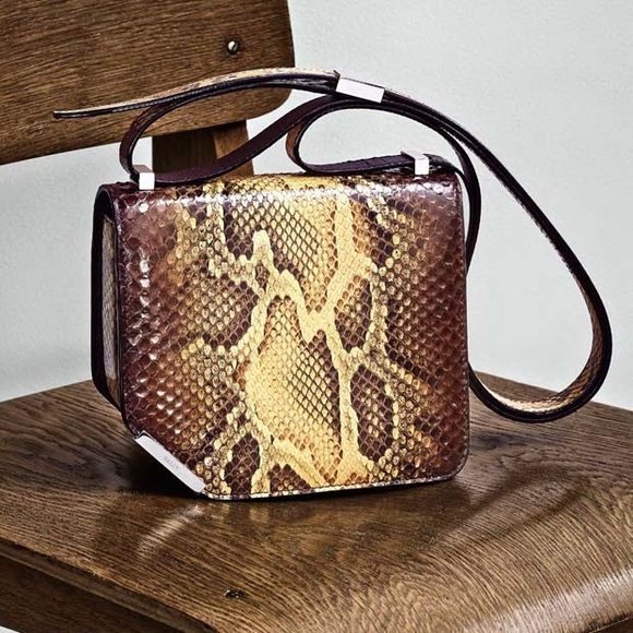 Bally Handbags - Bally amber python shoulder bag!